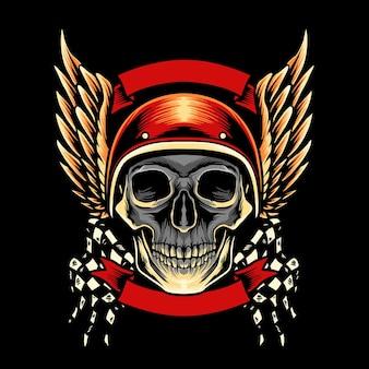 Skull motorcycle club-mascotte