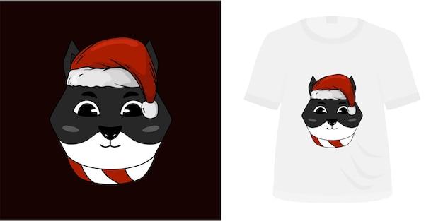 Skull onimask ilustration-ontwerp voor tshirt