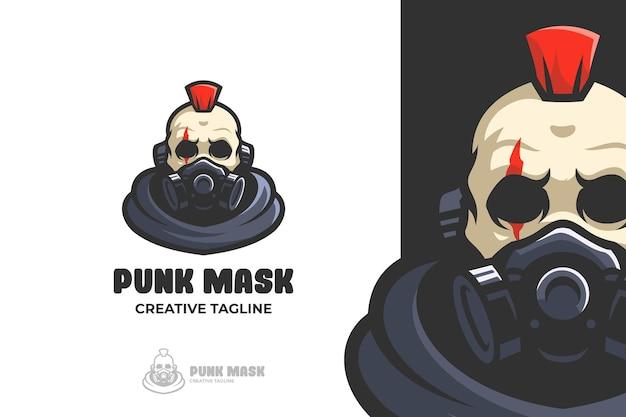 Skull punk wear mask e-sport mascot logo