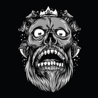 Skull rock zwart-wit afbeelding