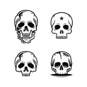 Skull vintage design-collectie