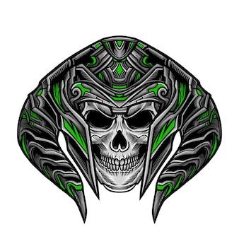 Skull warrior head vector