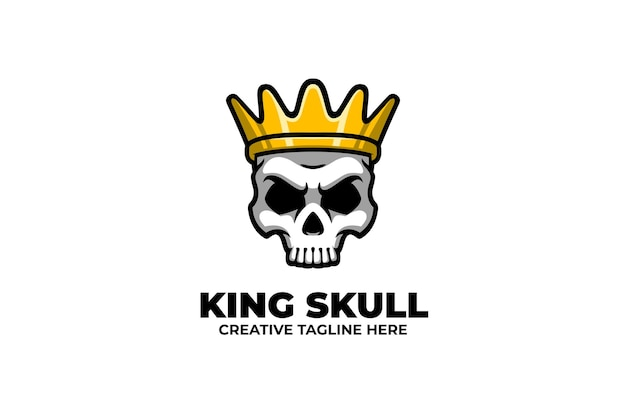 Skull wear crown mascot-logo