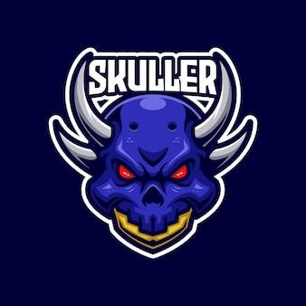 Skuller e-sports logo sjabloon