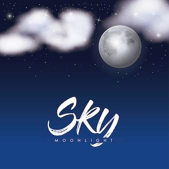 Sky moonlight-poster