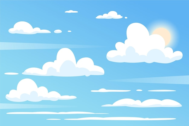Sky wallpaper voor videoconferenties