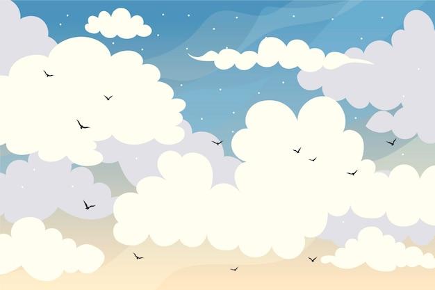 Sky wallpaper voor videogesprekken
