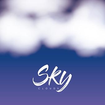 Sky wolken poster met wolken over nachtelijke hemel