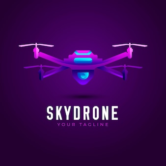 Skydrone kleurovergang logo sjabloon