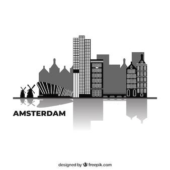 Skyline-ontwerp van amsterdam