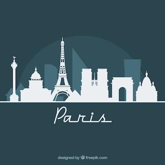 Skyline-ontwerp van parijs
