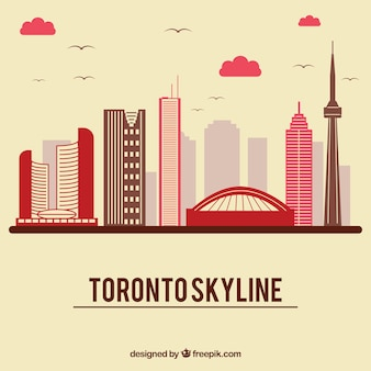Skyline-ontwerp van toronto