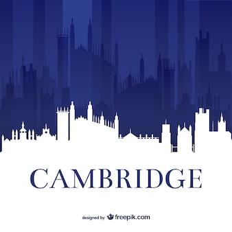 Skyline van de universiteit van cambridge