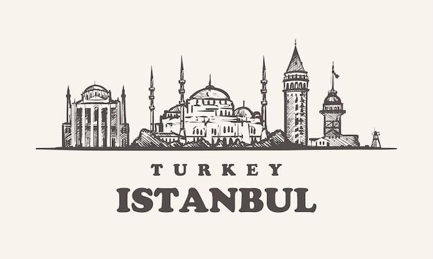 Skyline van istanbul, turkije