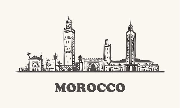 Skyline van marokko