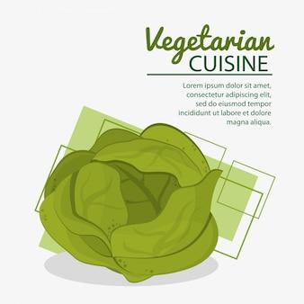 Sla verse natuurlijke vegetarische keuken