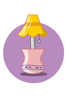 Slaap lamp vector illustratie