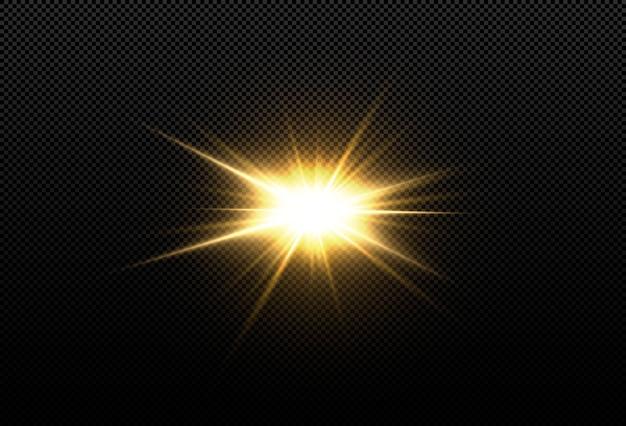 Slaap met hoogtepunten. een vlammende ster. ruimte abstracte objecten.