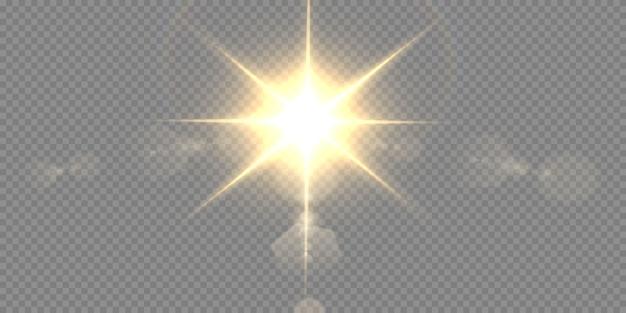 Slaap met hoogtepunten. een vlammende ster.
