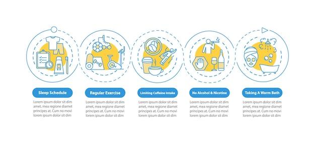 Slaap schema infographic sjabloon