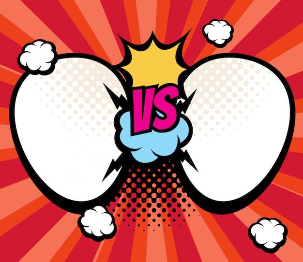 Slag versus versus gevechtsachtergrond met lege kaders voor namen vectorillustratie. verslaat kampioenschap en sport, conflicteer en vergelijk