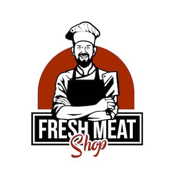Slager vlees illustratie