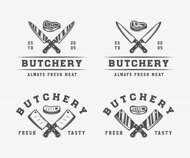 Slagerij logo's, emblemen