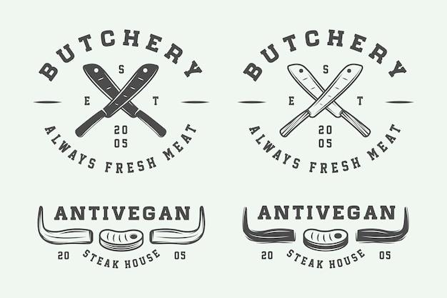 Slagerij vlees logo's