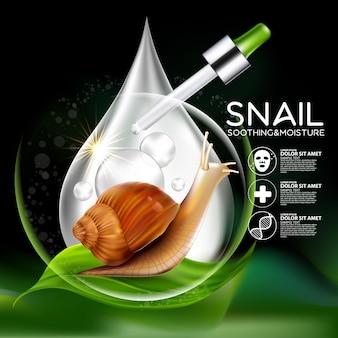 Slak serum cosmetica voor de huid