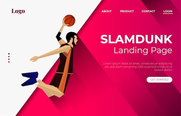 Slam dunk landingspagina