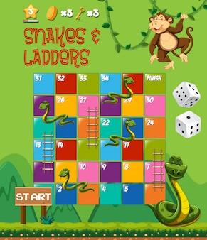 Slangen en ladders bordspel
