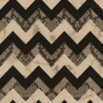 Slangenleer en marmer bruin en beige naadloos patroon dierlijk herhaalbehang voor textielprints