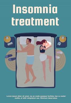 Slapeloosheid behandeling poster sjabloon