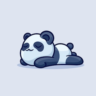 Slapen leuke panda luie cartoon