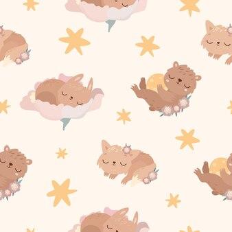 Slapende dieren patroon