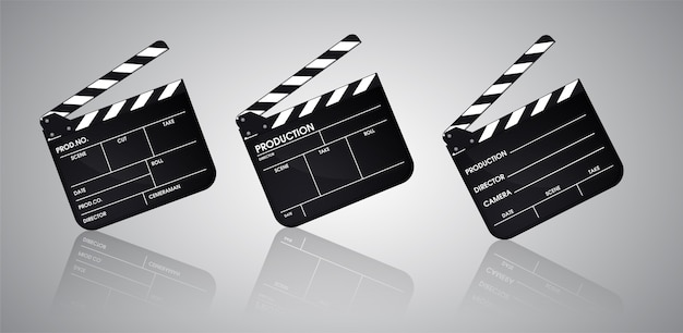 Slate of director film collection. illustratie vector eps10.