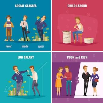 Slecht en rijk 2x2 concept