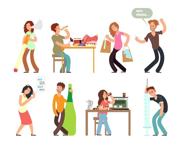 Slechte gewoonten ongezonde levensstijl