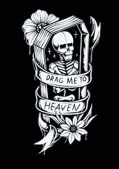 Sleep me naar de hemel illustratie