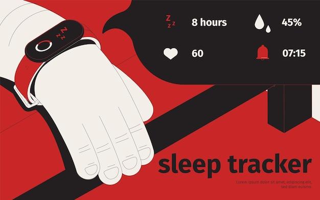 Sleep tracker illustratie