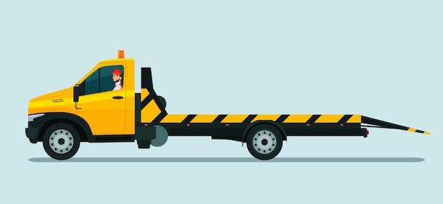 Sleepwagen met illustratie van een chauffeur