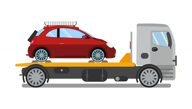 Sleepwagen, vrachtwagen op het werk