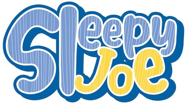 Sleepy joe logo tekstontwerp