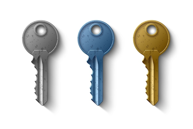 Sleutel tot het deurslot, realistisch object