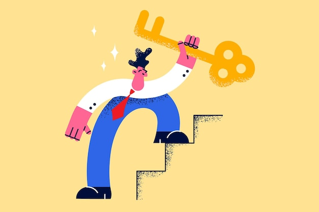 Sleutel tot zakelijk succes ontwikkeling carrière concept