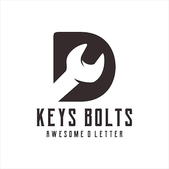 Sleutels bouten logo silhouet retro afbeelding