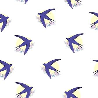 Slik vogel naadloos patroon