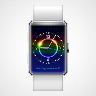 Slim horloge met blauw scherm