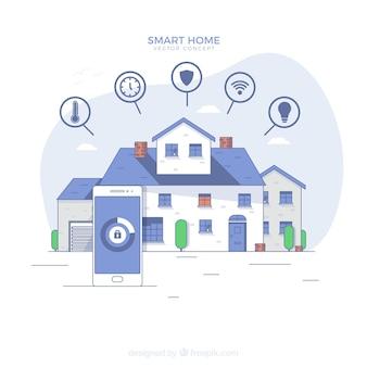 Slim huis met smartphone-bediening