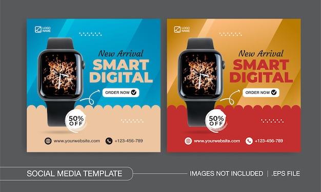 Slim ontwerp voor digitale sociale media-berichten